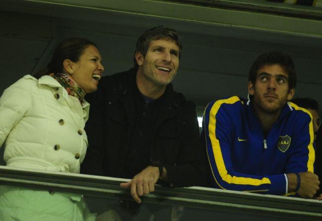 Palermo, con su novia y Delpo / Fotobaires