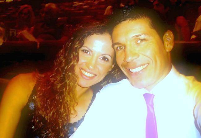 Carsetti y Martínez, felices como pareja.