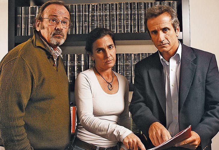 Horacio García Belsunce (h), Irene Hurtig y John Hurtig, medios hermanos de la socióloga asesinada.