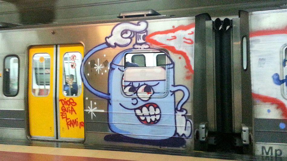 El delito de pintar trenes suele enmarcarse en los artículos 183 y 184 del Código Penal.
