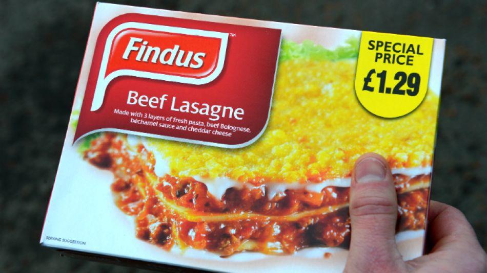 Testeos sobre la presunta carne vacuna de la lasaña Findus demostraron que se trataba de carne de caballo.