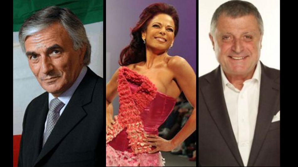 Claudio Zin, Gino Renni e Iliana Calabró, mediatizan la elección italoargentina.