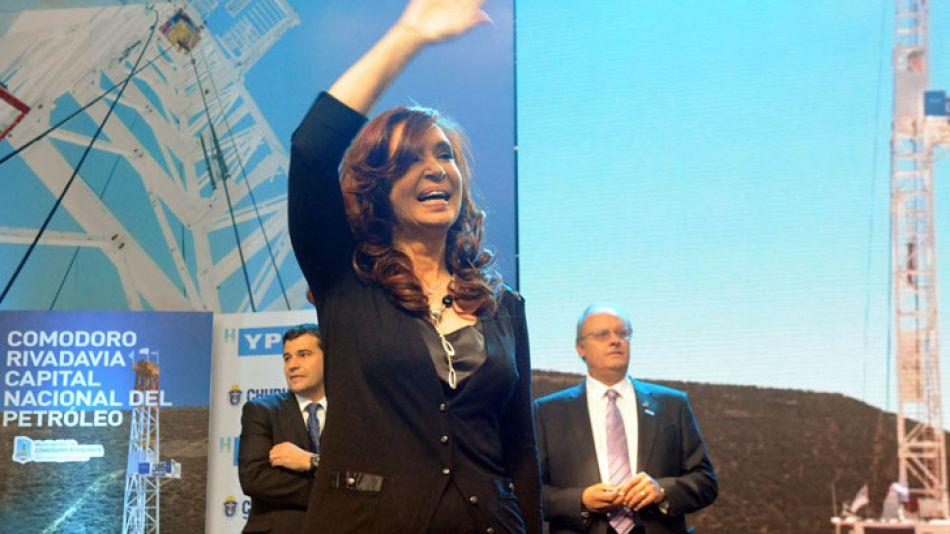 La Presidenta, al inaugurar la exploración de gas y petróleo no convencional de YPF en Comodoro Rivadavia.