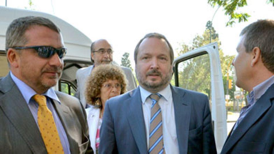 Sabbatella a principio de mes en Córdoba, donde hizo la presentación en la Justicia local.