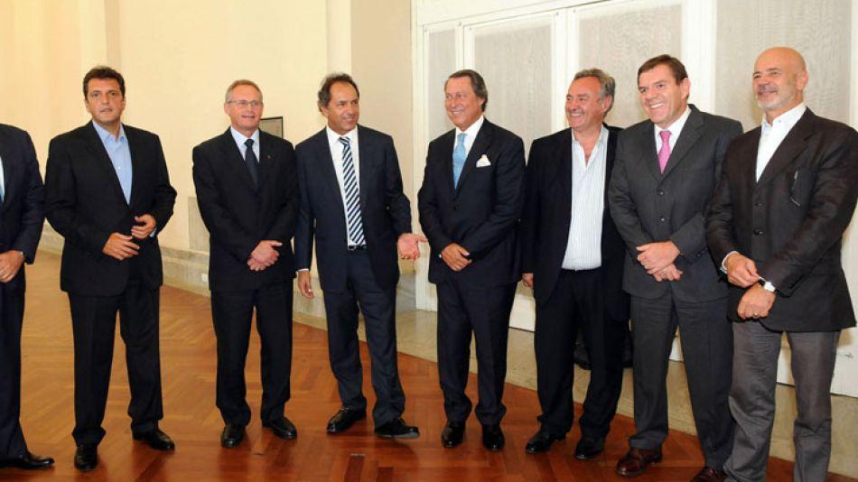 Scioli y Massa se fotografiaron juntos, aunque evitaron hablar de elecciones y candidaturas.