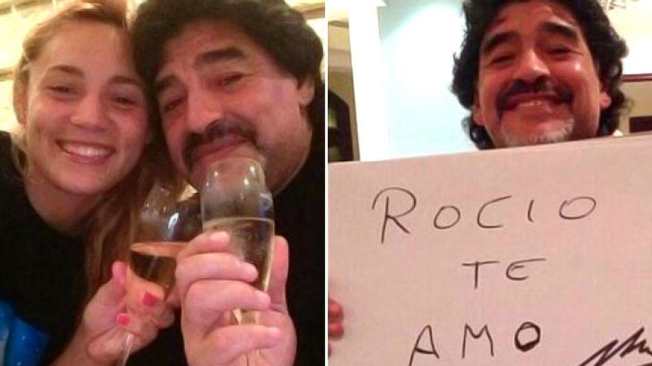 Diego Maradona estaría manteniendo un romance con Rocío Oliva.