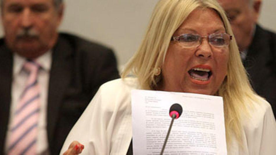 "Carrió se refirió hoy a ""la obsecuencia"" de Timerman respecto de la presidenta Cristina Fernández de Kirchner."