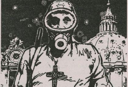 Papanauta. La brillante y mordaz metáfora de la revista Barcelona sobre el panquequismo K en torno al Papa.
