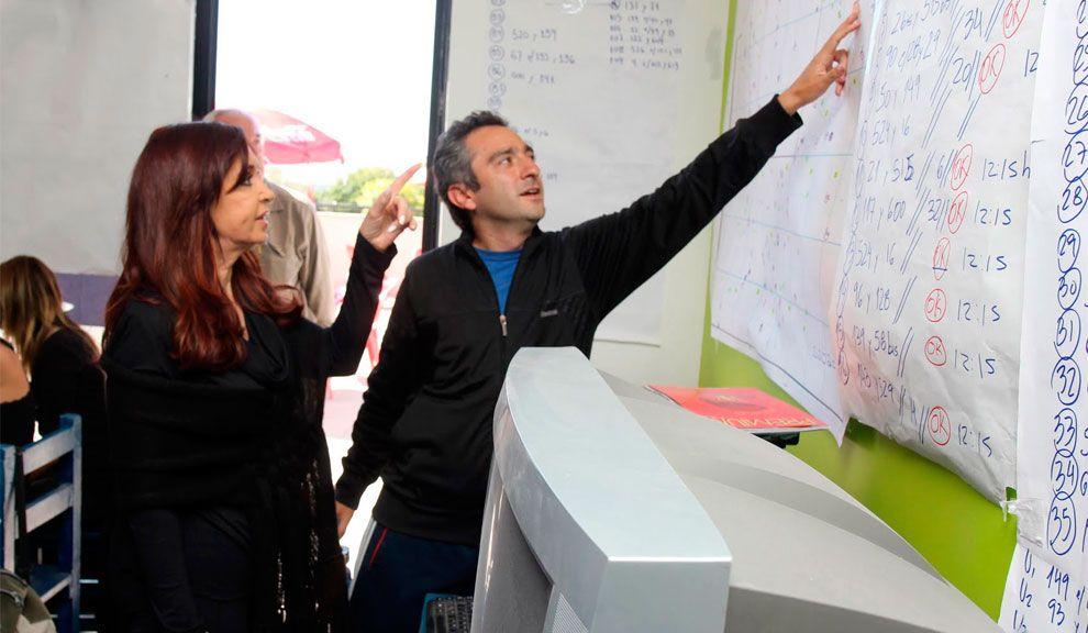 Cristina Kirchner junto a Andrés Larroque