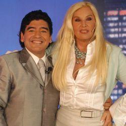 Maradona y Susana en el 2005