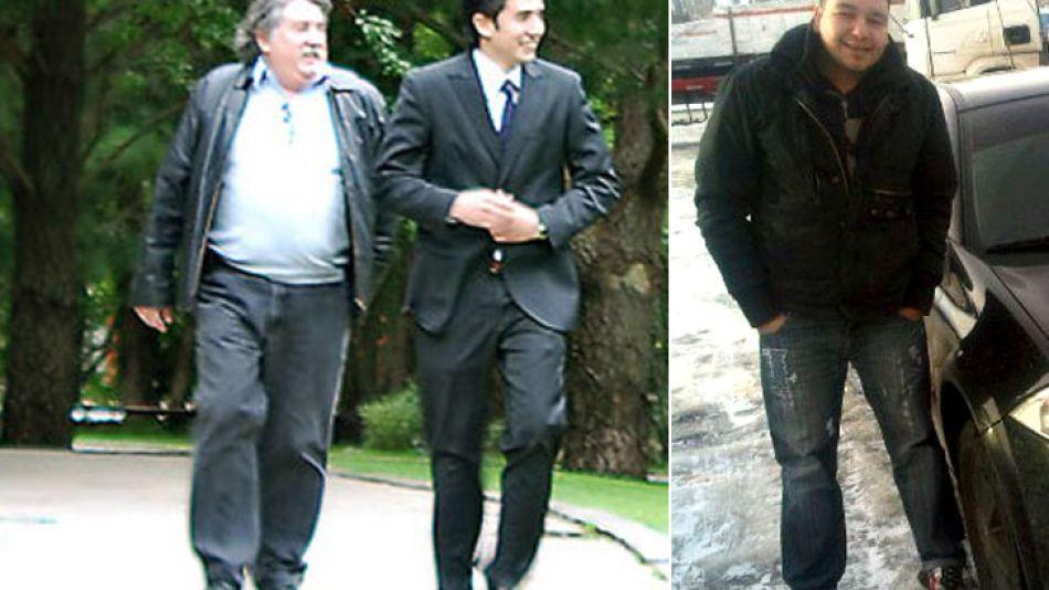 Fabián Barreiro junto a su hijo Pablo. Sebastián es policía.