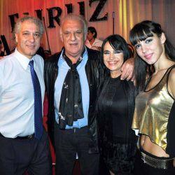 Coco Basile cenó en el clásico restaurante árabe Fairuz, donde fue recibido personalmente por Fairuz junto a su marido Gamal Murad y su hija Alia Murad.