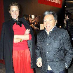 Felipe Rozenmuter y Lara Bernasconi en la presentación de World Press Photo en Palais de Glace