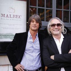 """El empresario y productor teatral Juan Fabbri junto a Enrique Blaksley en la inauguración en Nueva York de """"Malbec Wine Bar & Restaurant"""" y """"Tango House"""", el complejo de gastronomía y tango que esta revolucionando la gran manzana."""