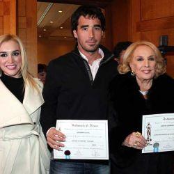 Fatima Florez, Nacho Viale y Mirtha Legrand