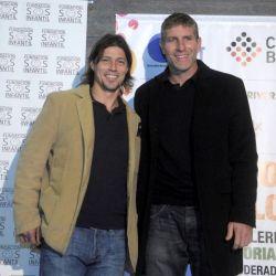 """Martín Palermo y Matias Almeyda se reunieron en """"Dos historias, la misma pasión """", una charla a beneficio de la Fundación S.O.S Infantil en la que contaron sus inicios y su esfuerzos a lo largo de sus carreras."""