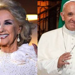 Mirtha Legrand y el Papa Francisco