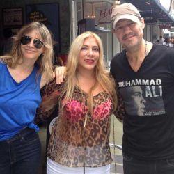 Marcelo Tinelli, Guillermina Valdés y Mariana Lopez Osornio en Lincoln Road