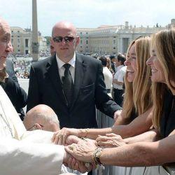 Las Trillizas de Oro con el Papa Francisco