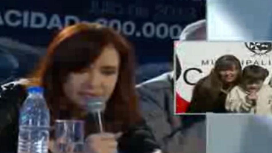 Cristina Kirchner dialogó con un nene con síndrome de Down.