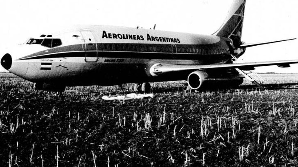 El avión que participó en la Operación Primicia.