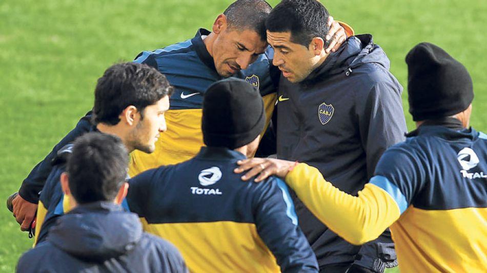 Presentes. El Cata Díaz no jugaba en Boca desde 2007, cuando partió a España. Riquelme, al fin, hizo una buena pretemporada.
