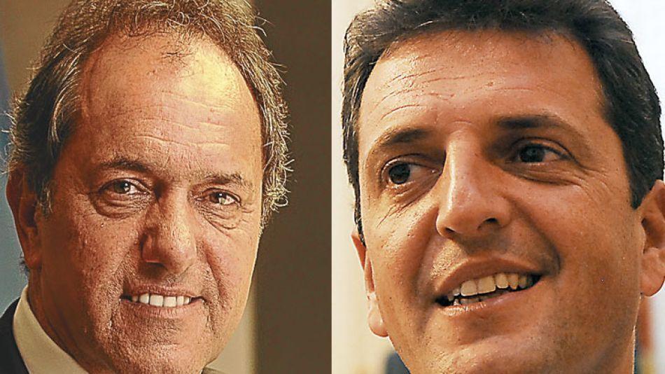 CANDIDATOS. Scioli y Massa, el mismo modelo optimista.