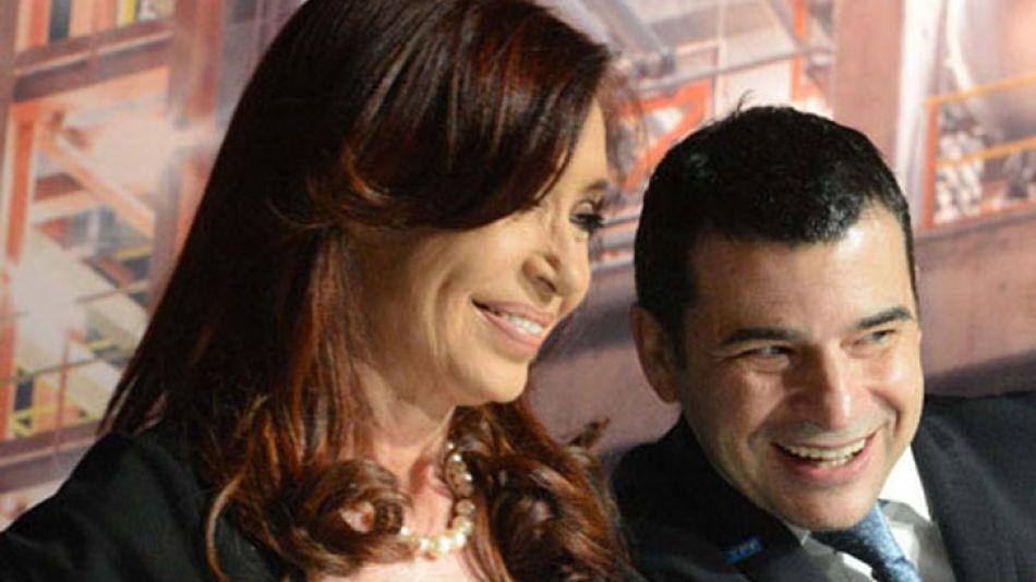 CEO. Con CFK, en medio de la polémica alianza con Chevron.