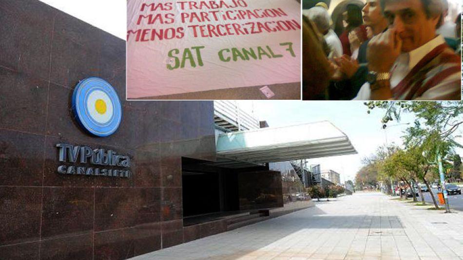 Juan Miceli, conductor del noticiero del mediodía de la TV Pública, participó de la manifestación.
