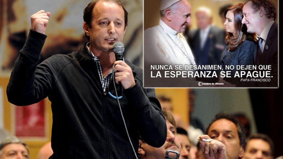 El intendente Martín Insaurralde se desvinculó de la realización de los afiches.