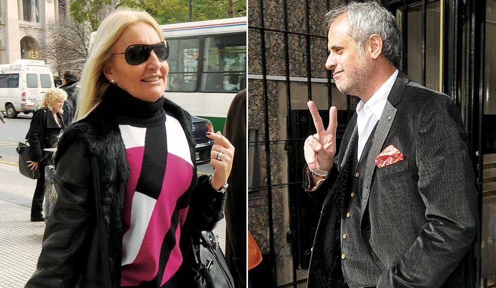 Adiós. Silvia D`Auro y Jorge Rial al llegar a la audiencia del lunes 12 en la que acordaron el fin de su matrimonio.