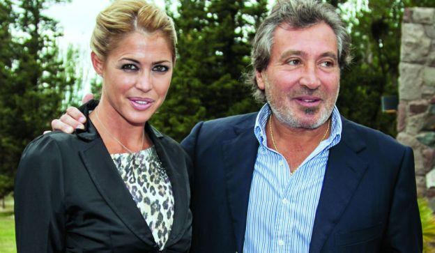 Pamela David junto a Daniel Vila. Ella dice  que resignó méritos por la relación amorosa con el dueño de América.