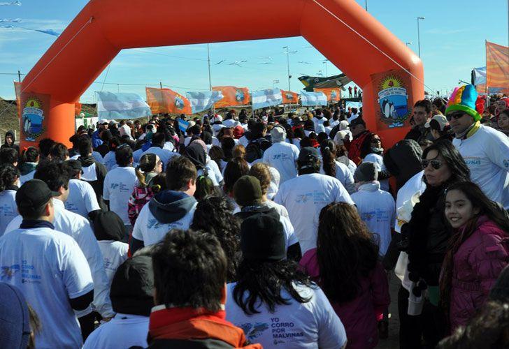 La maratón por Malvinas organizada por el municipio de Río Grande. // Municipio de Río Grande.