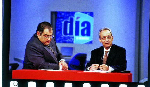 Verbitsky en la televisión de los ´90, cuando compartía programa con Lanata