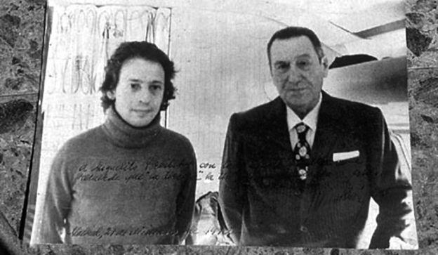 Horacio Verbitsky junto a Juan Domingo Perón en los ´70