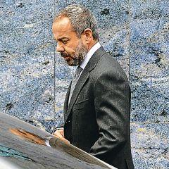 El dueño de Telecom: David Martínez en la única imagen que le tomó un medio. Odia las fotos, como Yabrán.