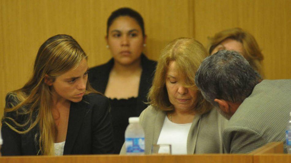 Susana Freydoz durante el juicio oral. Sus hijos lloraron cuando el tribunal leyó la sentencia.
