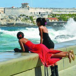 Chicas en El Malecón