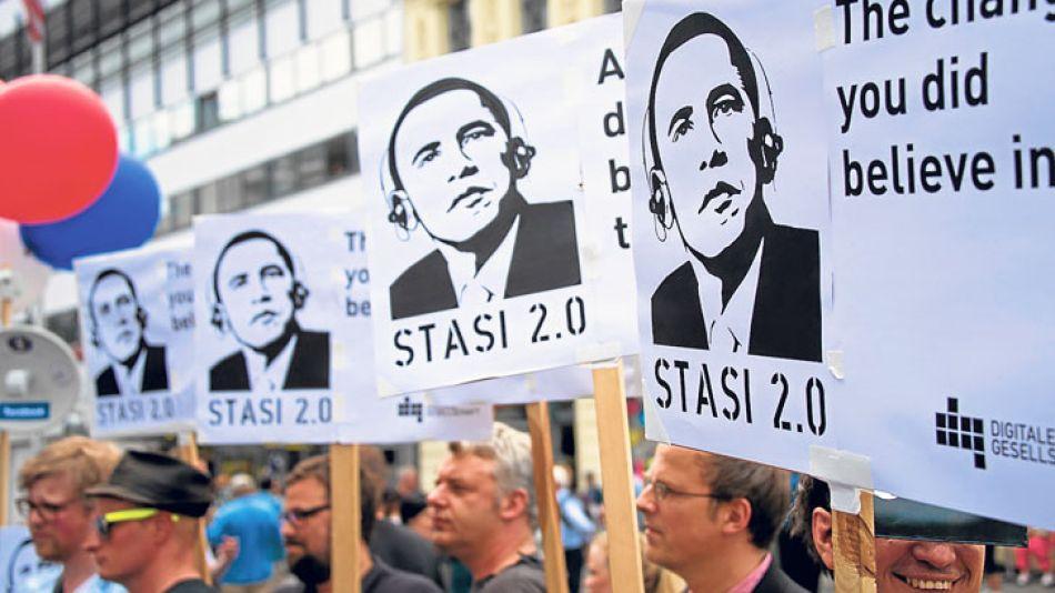 Rechazo. Obama recibe críticas por el espionaje de la NSA.