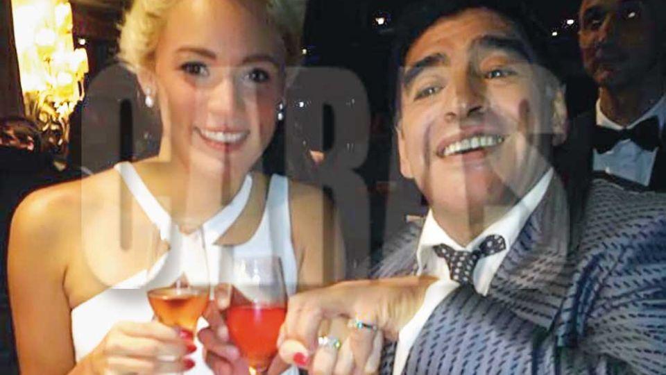 Diego Maradona y Rocío Oliva