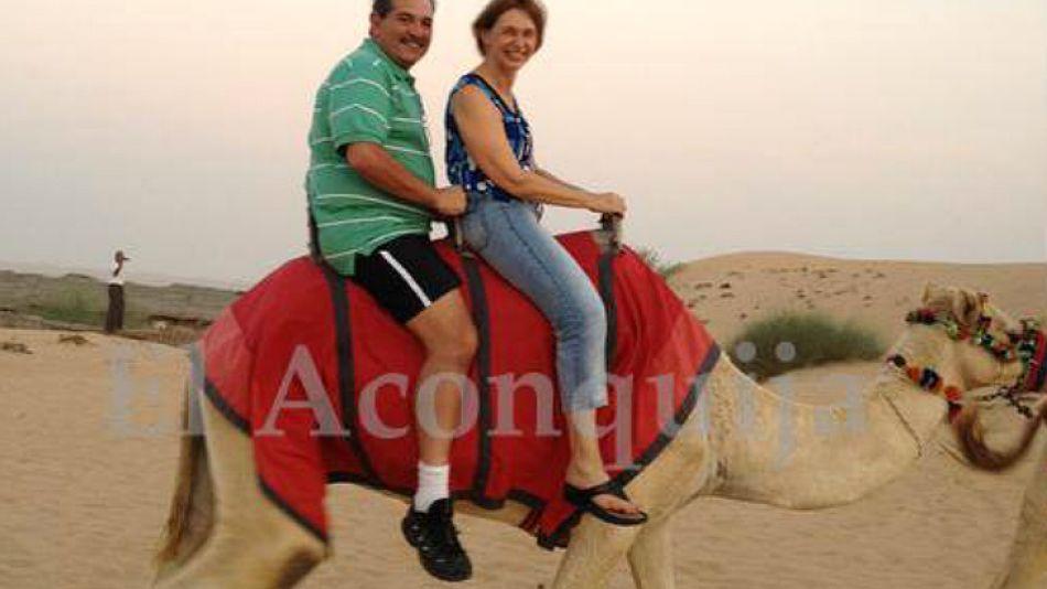 Los Alperovich en sus polémicas vacaciones en Egiptog