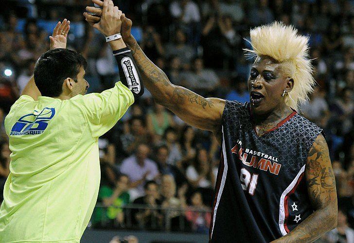 Dennis Rodman fue la gran atracción en el Luna Park. / Marcelo Figueras