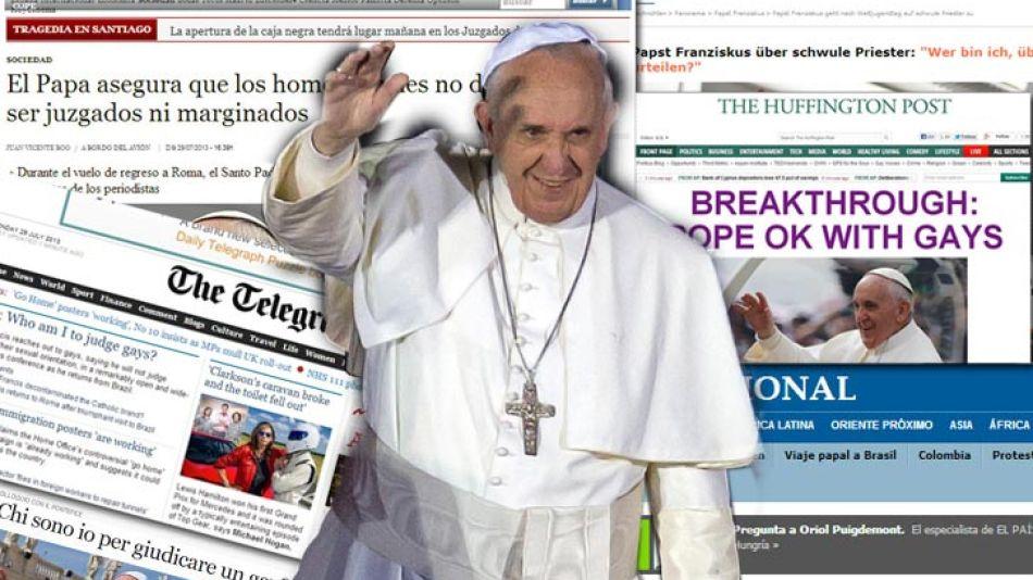 Desde la fumata blanca, Bergoglio se convirtió en una figura de gran interés para los medios del mundo.