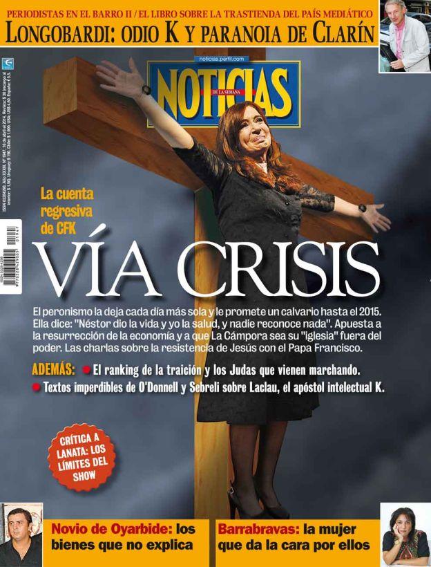 tapa revista noticias el via crisis de cristina kirchner