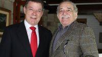 Juan Manuel Santos con Gabriel García Márquez (Archivo 2010)