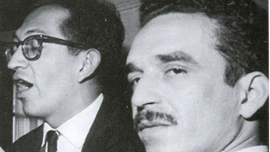 Plinio Apuleyo Mendoza junto a Gabriel García Márquez.