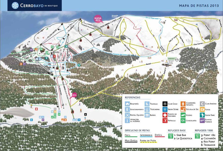 Mapa pista Cerro Bayo
