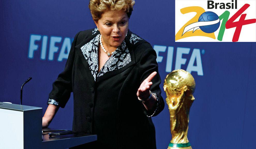 GOL POLÍTICO. El gobierno de Dilma Rousseff alberga la esperanza de que una victoria en la Copa del Mundo mejore los ánimos populares y apuntale la imagen de su gestión.