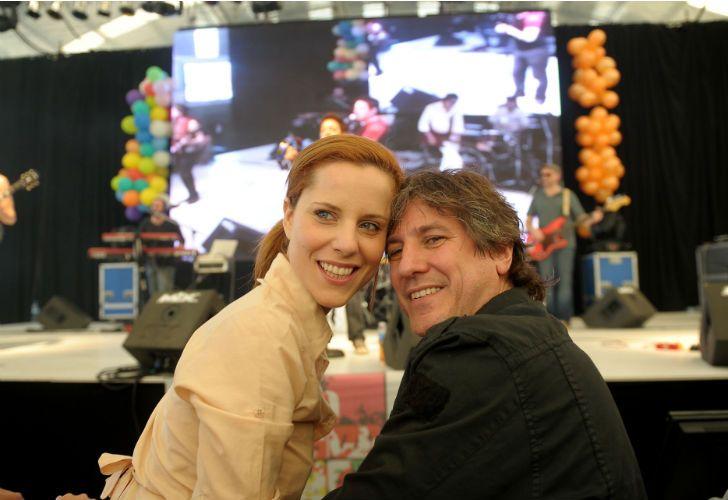 La periodista Agustina Kämpfer junto a su entonces pareja, Amado Boudou.