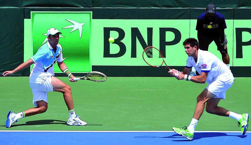 EN LA LUCHA. El equipo nacional tambalea en la Copa Davis y Martín Jaite anuncia su alejamiento. La nueva capitanía buscaría recuperar a Juan Martín Del Potro.